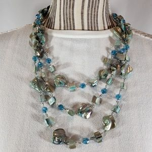 CP Jewelry - CP Multi Colored Gem Necklace NWT